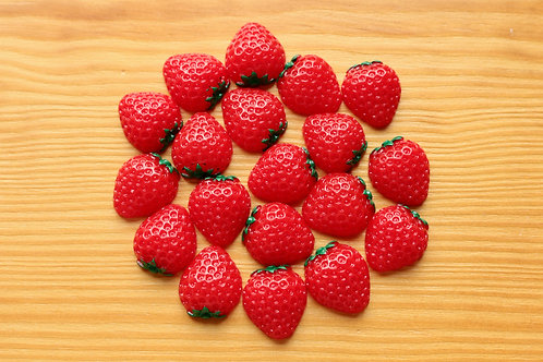 Strawberry Fruit Cabochons