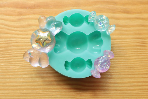 Wrapped Candies Assorted Kawaii Silicone Mold