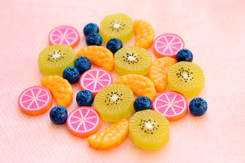 Assorted Fruits Cabochons