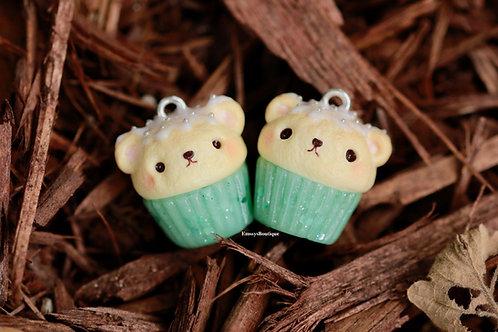 Jade Bear Cupcake Charm (Kawaii)