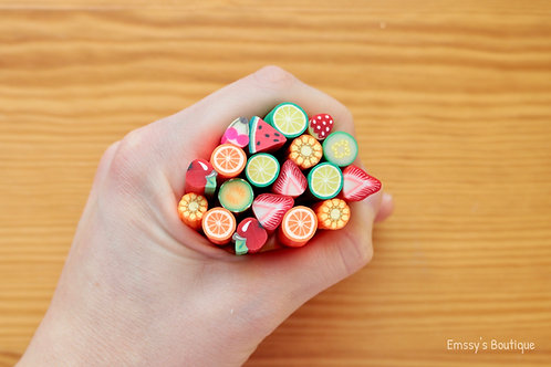 LARGE Fruit Polymer Clay Canes