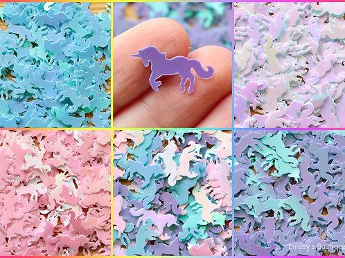 Unicorn Shaped Confetti! Pink, Purple, Blue, White