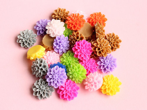 Flower Cabochons (Multicolor)