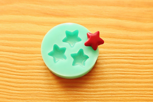 Tiny 11mm Stars Silicone Mold (Green)