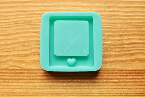 2in. Kawaii Backed Photo Print Shaker Silicone Mold