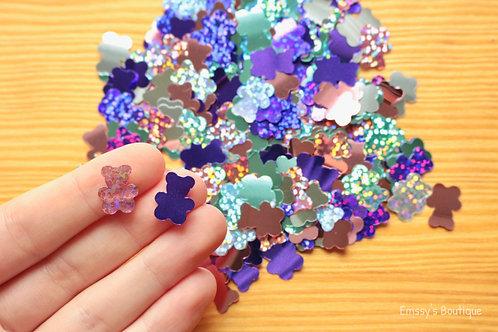 Gummy Bear Shaped Confetti! Pink, Purple, Mint, Silver