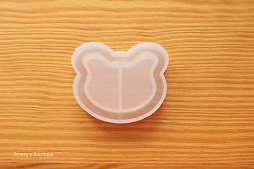 Clear Bear Head Flexible Shaker Silicone Mold
