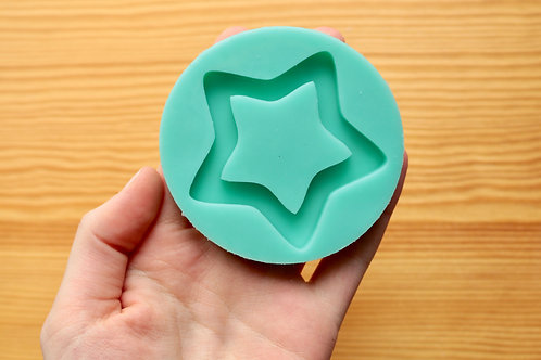 2.5in Open Star Shaped Shiny Silicone Mold