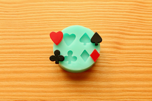 Tiny Playing Card Suits Silicone Mold