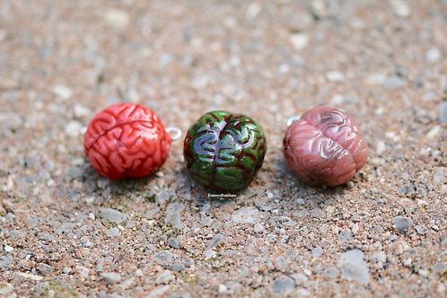 Zombie Brain Charms - Kawaii Polymer Clay Jewelry