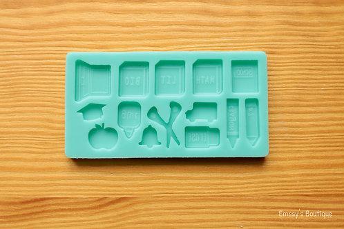 Mini School Supplies Silicone Mold