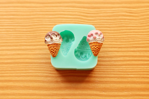 Mini Ice Creams Silicone Mold (Green)
