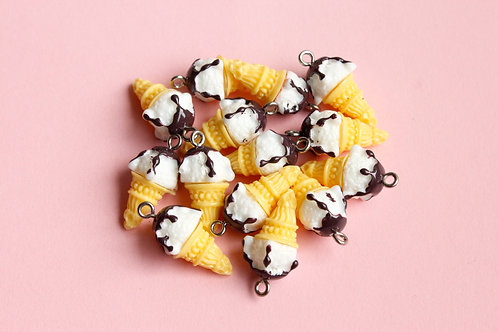 Ice Cream Sundae Cone Charms