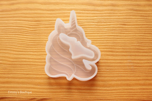 Clear Unicorn Head Shaker Silicone Mold