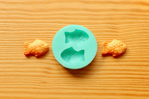 Mini Taiyaki Fish Silicone Mold (Green)