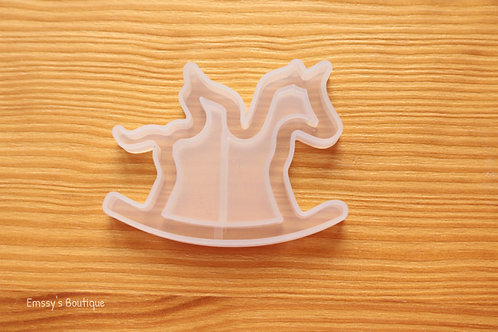 Clear Rocking Horse Flexible Shaker Silicone Mold