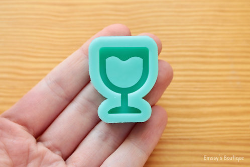 Lil' Wine Glass (Backed Shaker) Silicone Mold