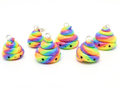 Mini Unicorn Poop Charm ~ Rainbow Kawaii