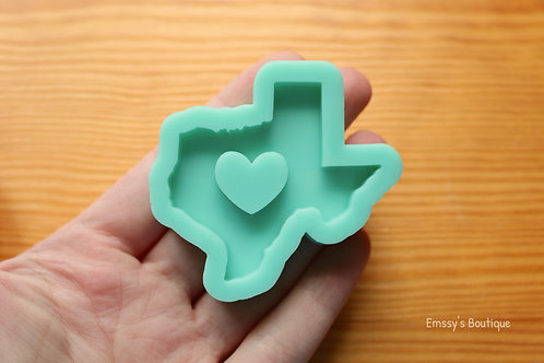 Texas Heart State Silicone Mold
