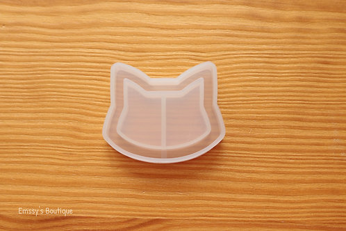 Clear Cat Head Flexible Shaker Silicone Mold