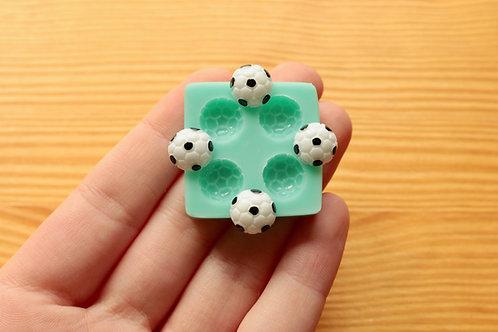 Tiny Soccer Balls Silicone Mold (Green)