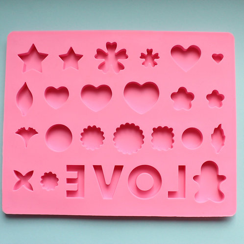 """Silicone """"Love"""" Variety Mold"""