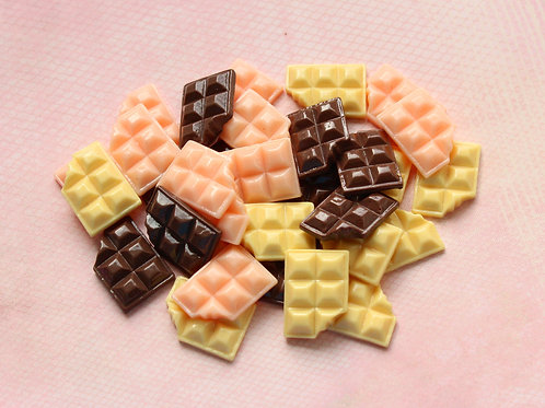 Chocolate Bar Cabochons (Assorted Colors)