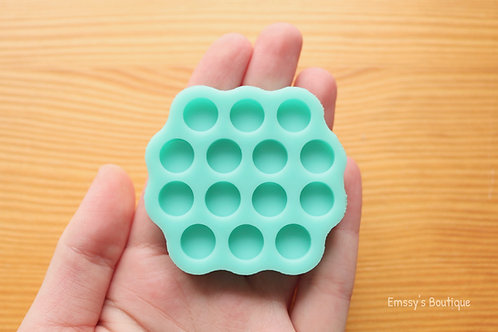 9mm Round Circles Silicone Mold