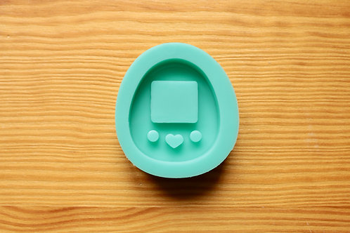 Oval Game Console (Backed Shaker) Silicone Mold