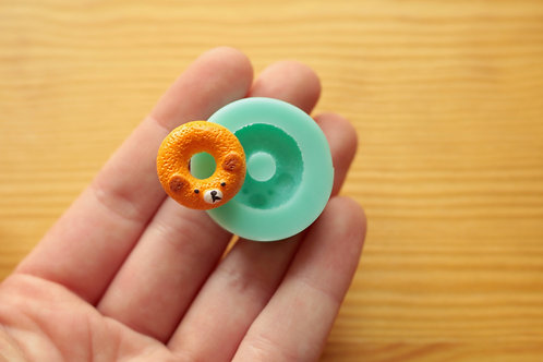 Bear Donut Silicone Mold (Green)