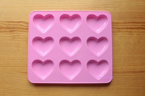 Shiny Puffy Heart Silicone Mold