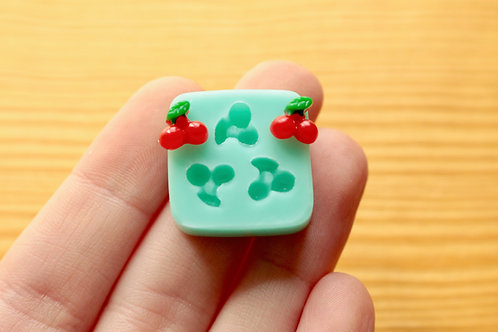 8mm Tiny Cherries Silicone Mold (Green)