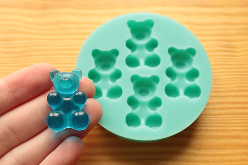 30x18mm Large Gummy Bear Silicone Mold