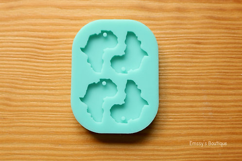 Mini Africa Charms Silicone Mold