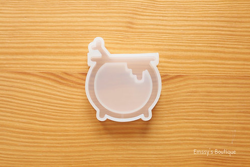 Clear Spooky Cauldron Silicone Mold