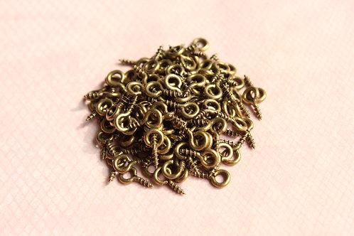 8x4 mm Eyescrews (Bronze Tone)