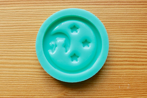 Moon Cat Stars Silicone Mold