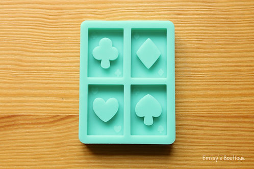 Playing Cards (Backed Shakers) Silicone Mold