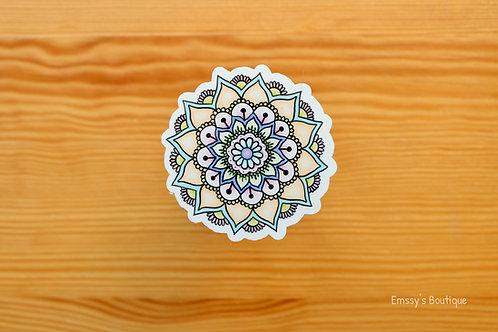 Pastel Mandala Vinyl Sticker (Waterproof, Weatherproof)