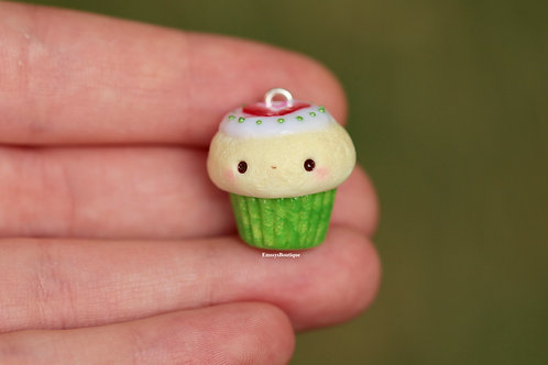 Kawaii Strawberry Cupcake Charm