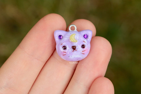 Kawaii Galaxy Cat Charm