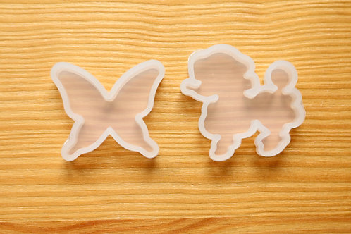 Butterfly & Poodle Clear Silicone Mold