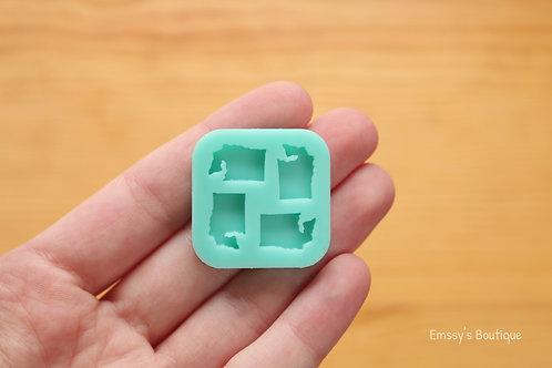 Tiny Washington State Silicone Mold (Sheet)