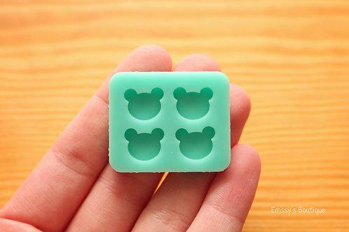 Tiny Bear Head Silicone Mold