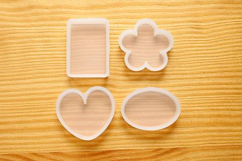 Basic Shapes Set Clear Silicone Mold