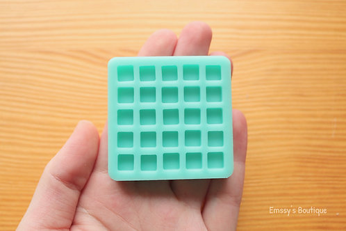 7mm Tiny Squares Silicone Mold