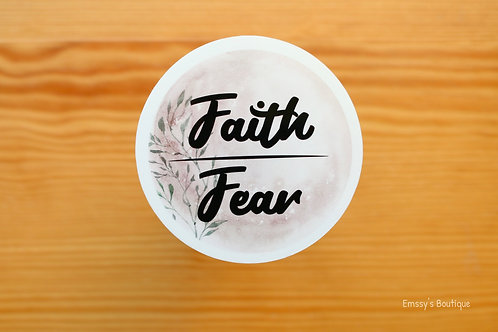 Faith over Fear Vinyl Sticker (Waterproof, Weatherproof)