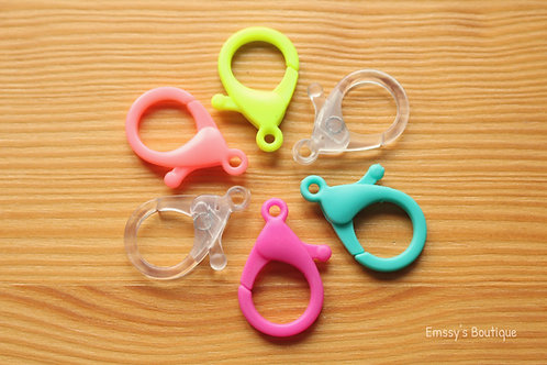 Fun Colored Lobster Clasps (Large)