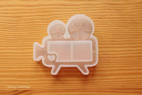 Clear Movie Reel Shaker Silicone Mold