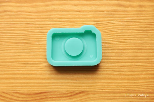 Camera with Heart (Backed Shaker) Silicone Mold